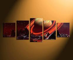 orange wall art canvas 5 piece canvas wall art home decor landscape canvas art prints orange