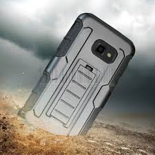 samsung xcover 4. hybrid hoster hard armor case stand belt clip cover for samsung galaxy xcover 4