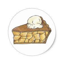 apple pie slice drawing. Beautiful Pie Apple Pie Slice A La Mode Ice Cream Dessert Picnic Classic Round Sticker For Drawing