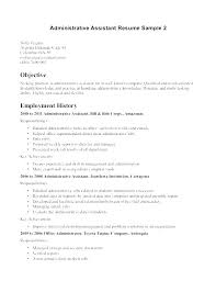 Office Assistant Resume Objective Sample For Job Administrative Magnificent Office Assistant Duties On Resume