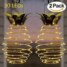 Adecorty Solar Lights Pineapple Hanging Solar Lanterns 2 Pack 30