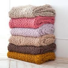merino wool throw blanket australia handmade chunky knitted thick yarn bulky warm winter sofa b