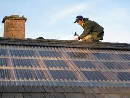 installing plastic roof panels