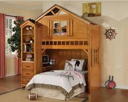 bunk bed with slide and desk. Nice Lofted Queen Bed Bunk With Slide And Desk I