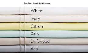Bamboo sheets are soft and breathable.