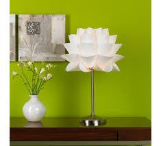 euro design lighting. Possini Euro Design White Flower Acrylic Shade Table Lamp Lighting