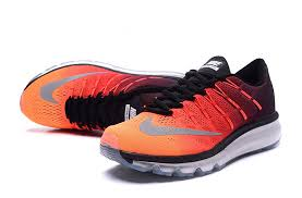 nike running shoes 2016 red. mens nike air max 2016 premium orange red black silver running shoes 810885 400