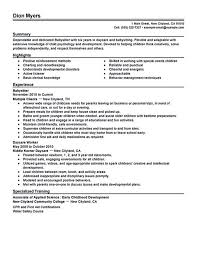 How To Put Babysitting On A Resume How To Put Babysitting On A Resume Truemedoil