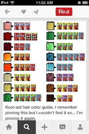 Kool Aid Hair Color Chart How To Dye Your Hair With Kool Aid Interested Hair