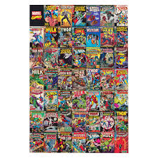 Marvel Bedroom Accessories Marvel Comic Montage Multicolour Canvas Art W60cm H90cm