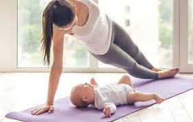 strong toned core after having a baby