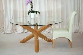oak glass top dining table glass oak dining table round glass oak dining table choice image