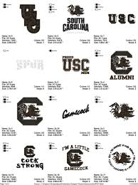 University Of South Carolina Embroidery Designs University Of South Carolina Gamecock Embroidery Designs Instant Download Best Collection