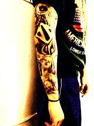 сделать тату рукав дота 2 Dota 2 в стиле черно белый реализм у мужчины