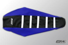 decal works gripper ribbed seat cover blue black white plastic kit level 1 yamaha