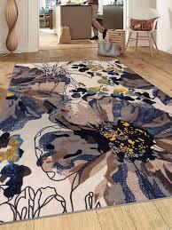 non slip area rugs fl cream multicolor area rug non slip non skid ndash modern rugs and