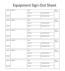 Check Out Sheet Key Sign Out Form Template Sheet In Free