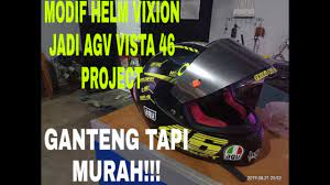 Maybe you would like to learn more about one of these? Modifikasi Helm Yamaha Vixion Jadi Agv Pista 46 Project Murah Tapi Ganteng Youtube