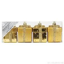 4 Stk Kunststoff Geschenkbox 6 5cm Gold Pvc