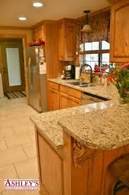 Rustic Beech Cabinets Kitchen Remodel Rustic Beech Custom Cabinets Granite Countertop