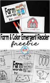 Learn colors in a fun way with these printable flashcards for kids! Farm And Color Emergent Reader