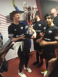 sidemen xix the chairty match harry holding the cup