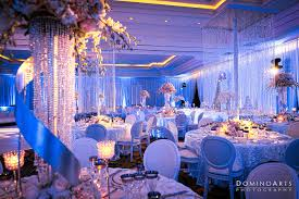 decorated wedding reception room