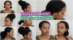5 Quick Easy Protective Hairstyles On Natural Hair Thick Medium