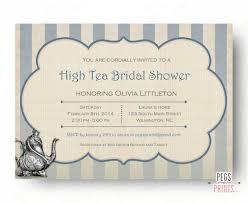 Tea Invitations Printable High Tea Invitation Bridal Shower Tea Party Invitations Printable