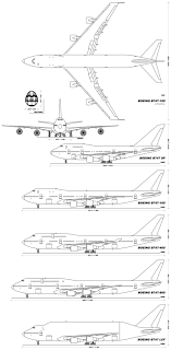 boeing 747 wikiwand diagram of boeing 747 variants at the top 747 100 dorsal