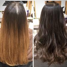 大人の艶髪グラデーションカラー ビフォーアフター プラチナブラウン