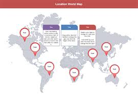 office world map. World Map Location Office