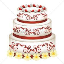 Wedding Cake Vector Image 1705815 Stockunlimited