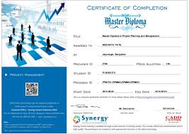 master diploma in project planning management certificate master diploma in project planning and management nishanth patil 120 ppm f01 ppm804 ppm805
