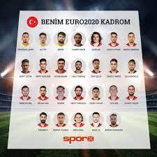 2021 Avrupa ŞAMPİYONASI Benim EURO 2020 Milli Takım Kadrom
