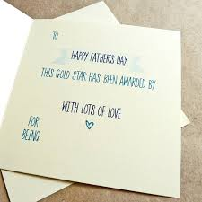 Daddys Gold Star Award Keepsake Fathers Day Card By Be Good