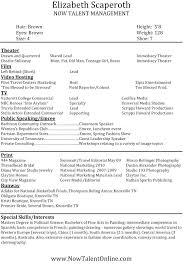 Model Resumes Model Resume Ptctechniques Info