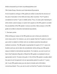 th grade essay examples twenty hueandi co 5th grade essay examples