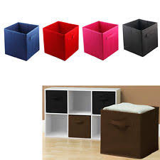 6 pcs Home Storage Box Household Organizer Fabric Cube Bin Basket Container
