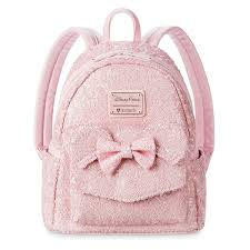 Backpack Light Pink Disney Loungefly Backpack Minnie Mouse Sequined Light Pink