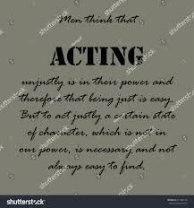 Aristotle Quotes Men Think That Acting Stock Vector Royalty Free