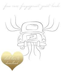 artfully wed s free printable fingerprint wedding guest book