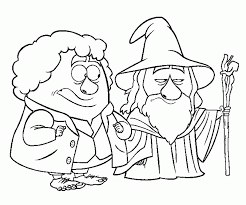 The Hobbit Coloring Pages Coloring Home