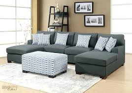 full size of small u shaped leather sectional couch l with recliner sofa in slate black