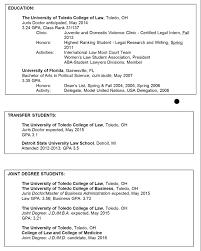 Legal Resumes