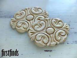 decorative wood appliques 2 furniture medium sized medallion door drawer kitchen embellishment decoration ornate detail trim