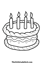 Small Picture Cake Coloring Page glumme