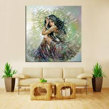 1 panel contemporary modern colorfull art painting painted ideas y woman canvas oil painting wall decor in painting calligraphy from home