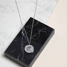 Sterling Silver Natal Necklace Personalised Birth Chart