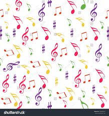 Pattern Song Adorable Seamless Pattern Music Melody Song On Stock Vector Royalty Free